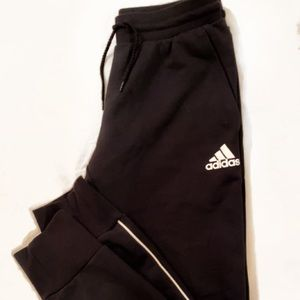 Black Adidas sweatpants!